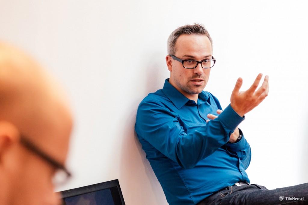 Henning Schürig in einer Debatte über digitale Transformation (Barcamp Stuttgart 2014, bcs7)