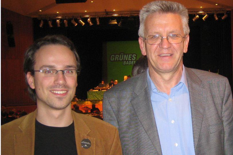 Henning Schürig und Winfried Kretschmann (2005)