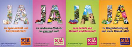 Stuttgart 21 - Ja zum Ausstieg (Plakatmotive)