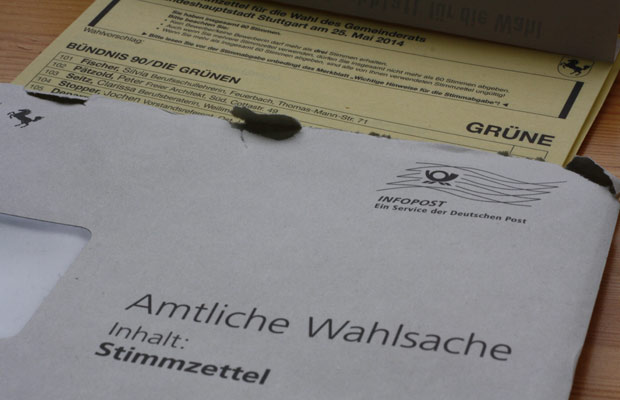 Kommunalwahl Stuttgart 2014, Stimmzettel