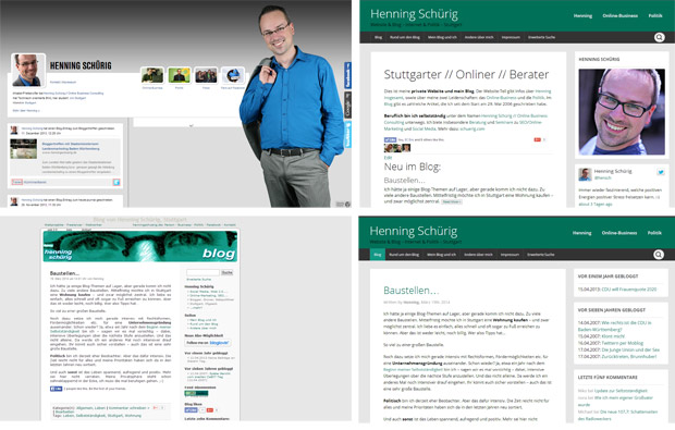 Redesign henningschuerig.de und Blog 2014