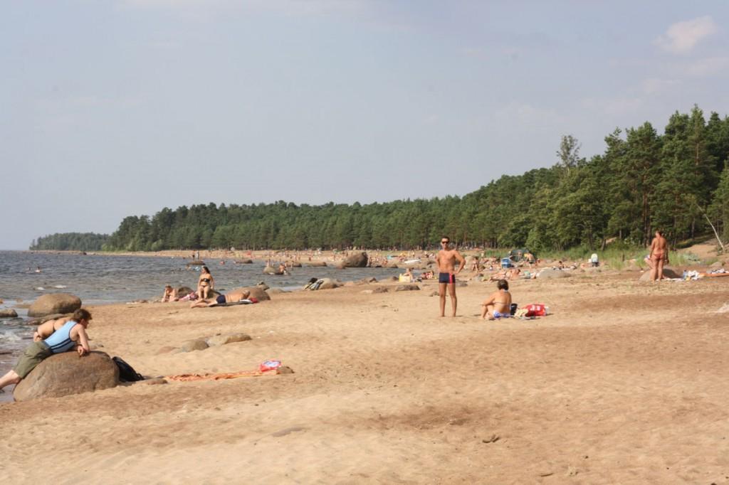 Strand in Russland (Sosnowy Bor, Finnischer Meerbusen)