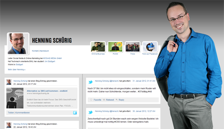 Henning Schürig (Website, 2012, Screenshot)