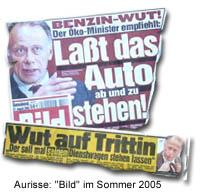 BILDblog: Zeitungsausrisse aus BILD (Jürgen Trittin)