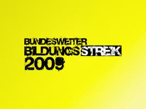 Bundesweiter Bildungsstreik 2009 (Banner)