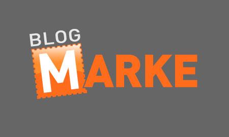 Blog-Marke: Logo dunkel