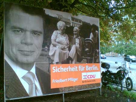 CDU-Plakat in Berlin (Pflüger, 2006)