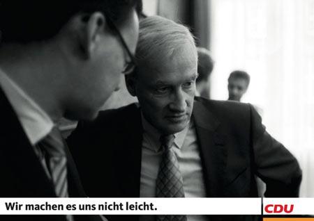 CDU in Hamburg macht's sich nicht leicht (Wahlplakat 2008)