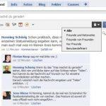 Facebook-Statusmeldungen: Fallweise sichtbar