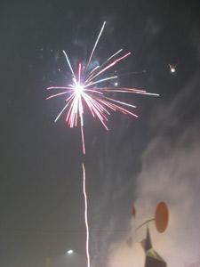 Feuerwerk am Schlossplatz in Stuttgart (2008)