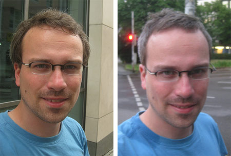 Henning beim Friseur: vorher/nachher