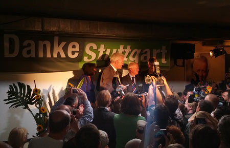 Winfried Kretschmann und Fritz Kuhn (Wahlparty, OB-Wahl Stuttgart 2012)