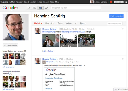 Profil bei Google+