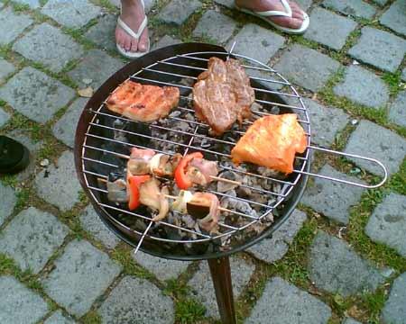 Grill beim 2. Blog-Geburtstag am 28.05.2008
