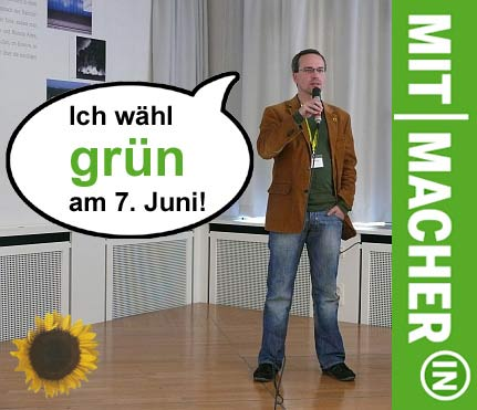 Ich wähl grün am 7. Juni!