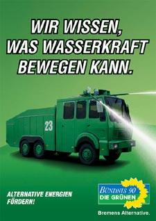 Bündnis 90/Die Grünen Bremen, Plakat Wasserwerfer