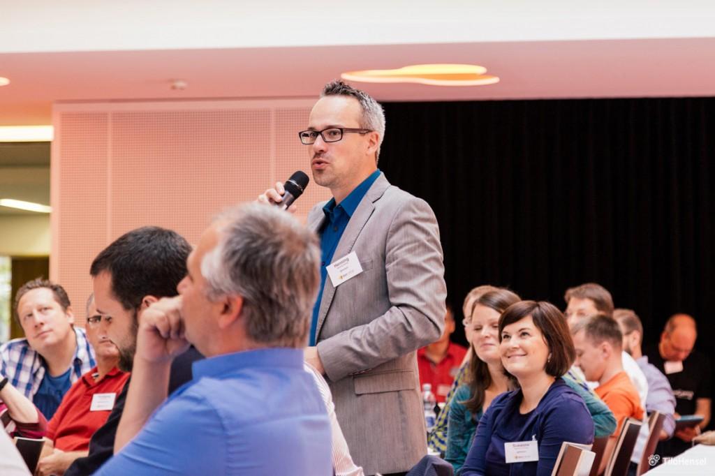 Henning Schürig (Vorstellungsrunde beim Barcamp Stuttgart, bcs7)