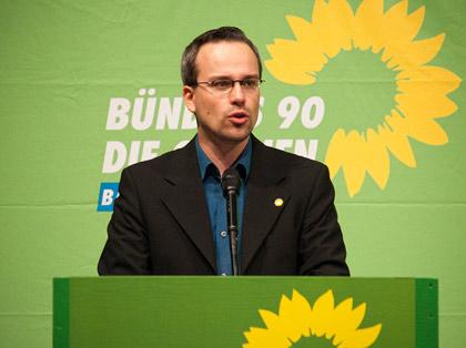 Henning Schürig: Rede zur Wiederwahl, Parteitag in Biberach 2009 - Foto: Florian Freundt