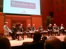Hochschule 2012: Abschlusspodium mit Ministerpräsident Günther Oettinger