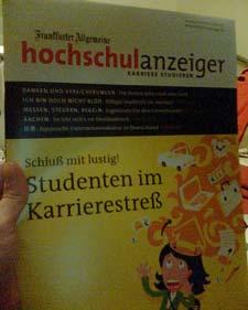 FAZ-Hochschulanzeiger: Schluß mit lustig - Studenten im Karrierestreß