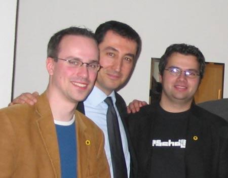 Henning Schürig, Cem Özdemir und Daniel Mouratidis (Grüne)