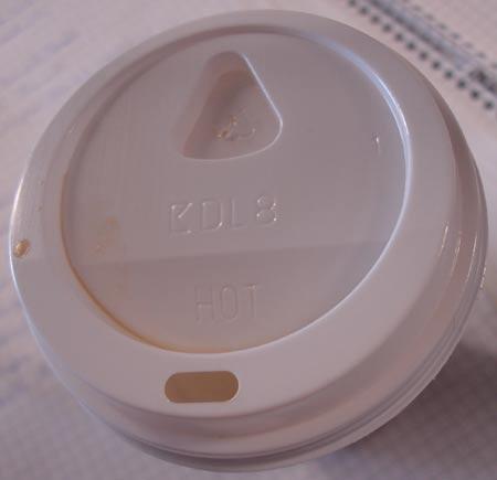 Kaffeedeckel mit Nasenmulde