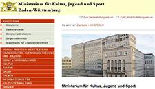 Ministerium für Kultus, Jugend und Sport Baden-Württemberg (Website)