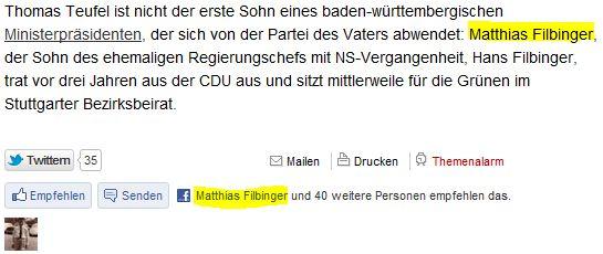 Thomas Teufel und Matthias Filbinger wechseln die Partei - von der CDU zu FDP und Grünen