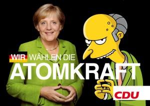 Wir wählen die Atomkraft (Mr. Burns und Angela Merkel)