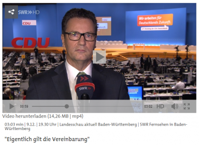 Peter Hauk im SWR-TV-Interview