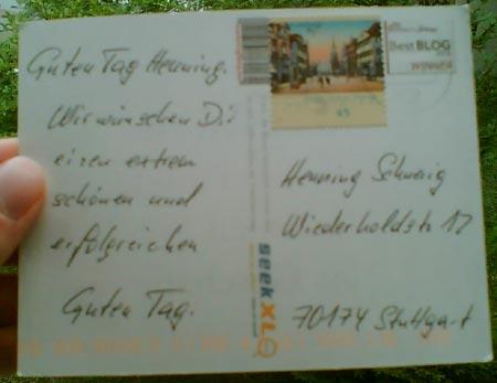 Postkarte Marketing-Blog.biz (Teil 1)