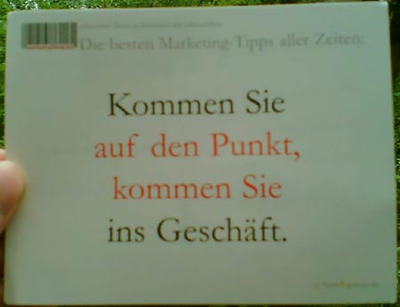 Postkarte Marketing-Blog.biz (Teil 2)