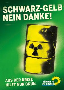 Schwarz-Gelb nein danke! - Gegen Atomkraft hilft nur grün