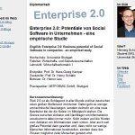 Diplomarbeits-Titel steht – Enterprise 2.0: …