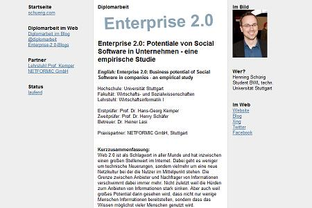 schuerig.com - Diplomarbeit (Screenshot)