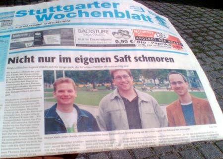 Stuttgarter Wochenblatt: Dick auf der Titelseite