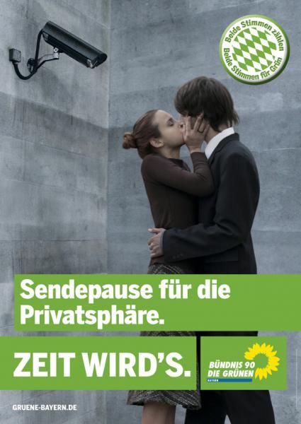Wahlplakat Bündnis 90/Die Grünen Bayern (Landtagswahl 2008)