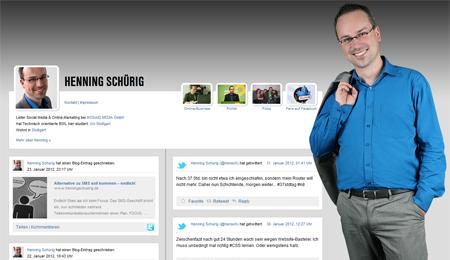 Henning Schürig (Website, 2012, Screenshot)